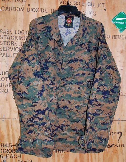 画像1: 米軍放出品,新品 USMC ウッドマーパットジャケット L-R (1)