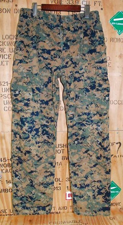 画像1: 米軍実物,USMC ウッドマーパットパンツ M-SHORT (1)