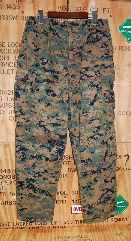画像1: 米軍実物, USMC ウッドマーパットパンツ M-S (1)