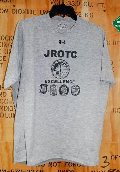 画像1: 米軍放出品,アンダーアーマー JROTC Tシャツ heatgear LARGE (1)
