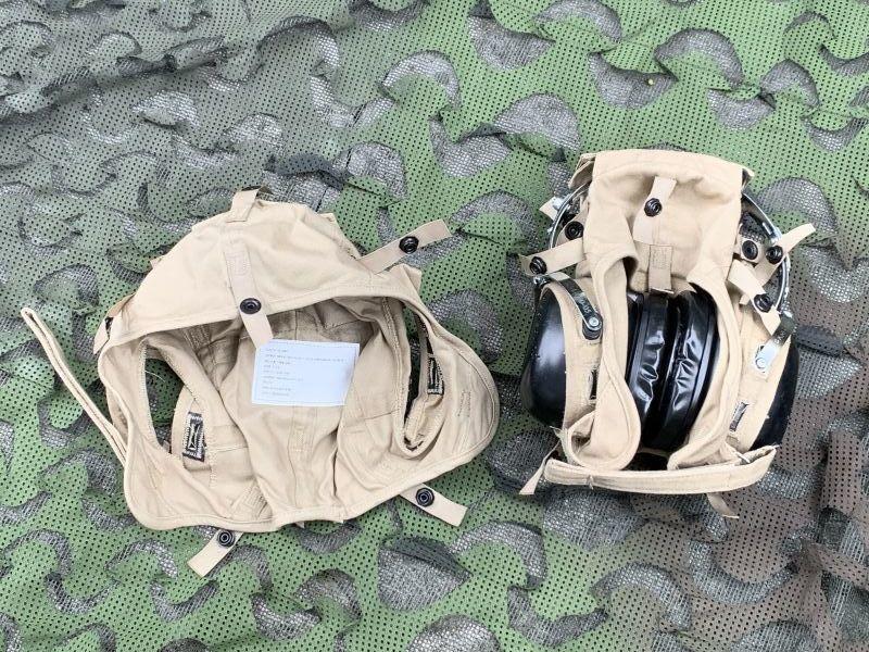 画像1: 米海軍実物 aegisound イヤーマフ CLOTH HELMET セット  防音ヘッドホン  (1)