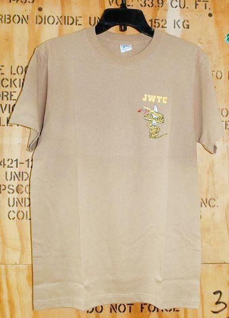 画像1: 海兵隊実物 ジャングル ウォーフェア トレーニングセンター Tシャツ TAN XL (1)