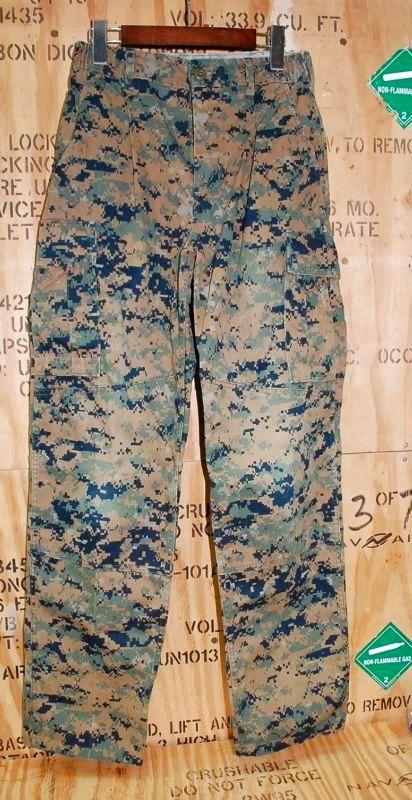 画像1: 米軍実物,USMC ウッドマーパットパンツ S-REGULAR (1)