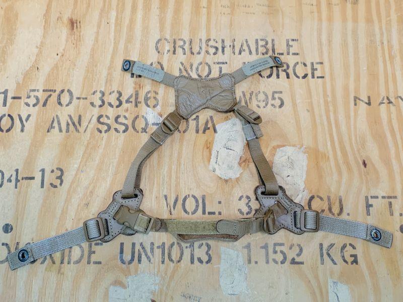 画像1: 海兵隊実物 LWH フリッツヘルメット 4点チンストラップ コヨーテ M/L (1)