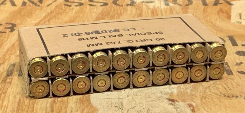 画像1: 米軍実物 US 7.62mm 空薬莢 20RD SET  (1)