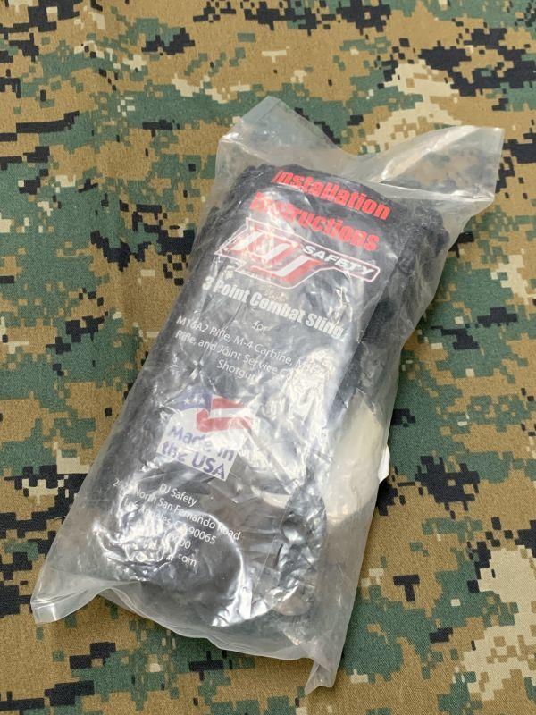 画像1: 米海軍 海兵帯実物 DJ SAFETY 3ポイントスリング (1)