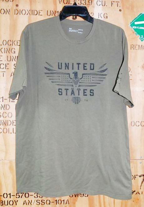 画像1: 米軍放出品 アンダーアーマーTシャツ LARGE (1)