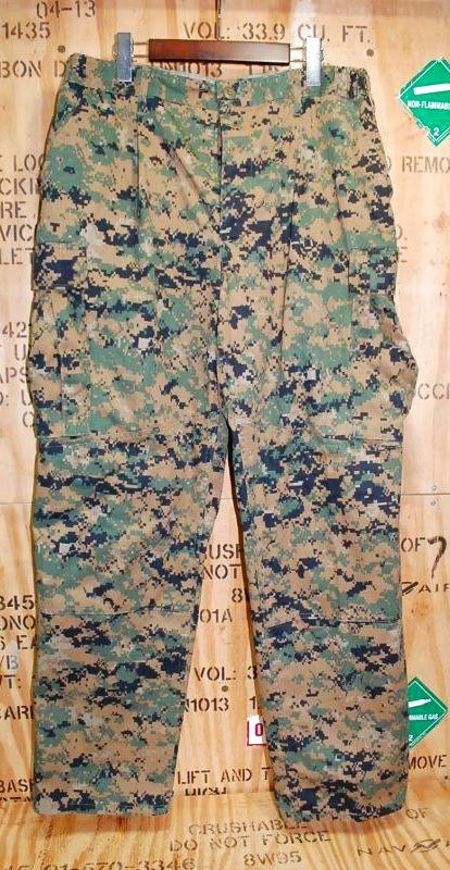画像1: 米海兵隊実物 USMC ウッドマーパットパンツ L-R (1)