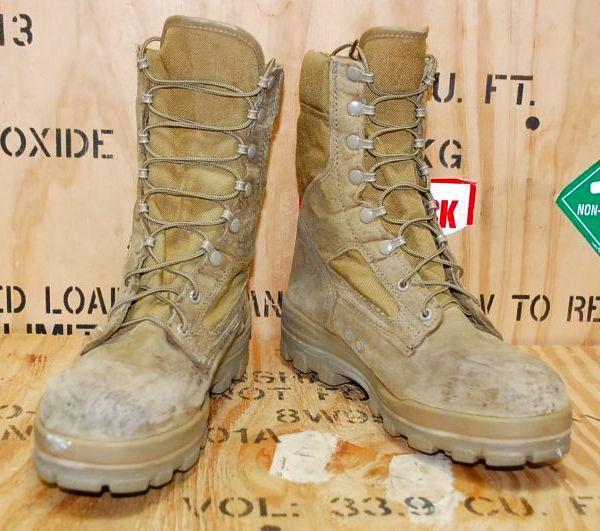 画像1: 米軍実物 BATES デザートマーパット ブーツ  10 M (1)