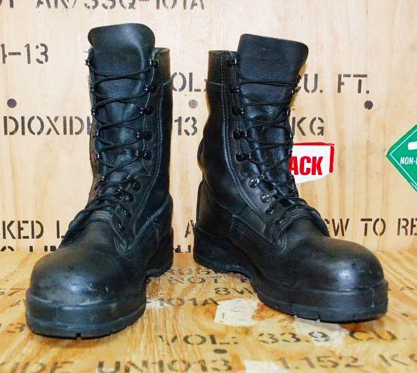 画像1: 米海軍実物 Billeville U.S. NAVY ブーツ 10W (1)