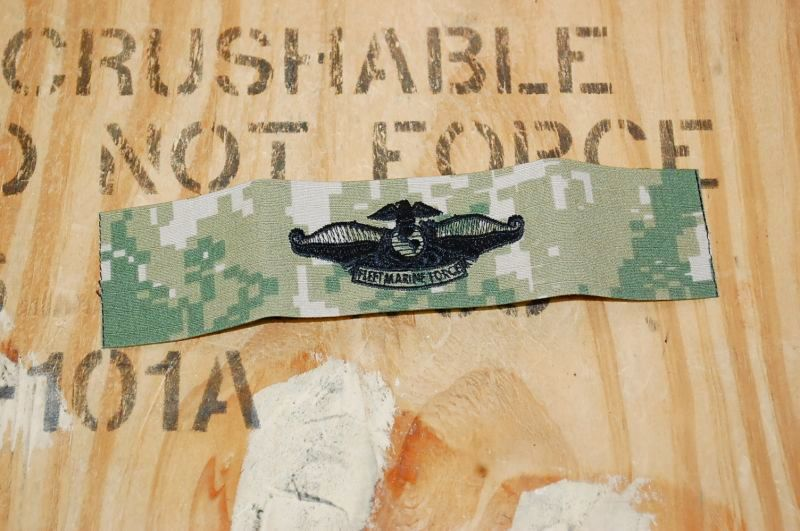 画像1: 米軍実物 US NAVY  Fleet Marine Force ワッペン (1)