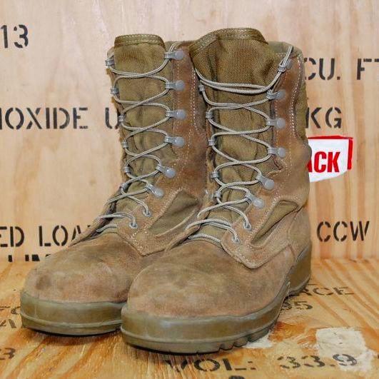 画像1: 米海兵隊実物 Billeville デザートマーパット ブーツ    9W (1)