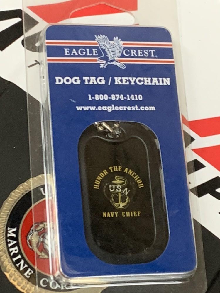 画像1: 米軍放出品 US NAVY オフシャル ドッグタグ キーホルダー (1)