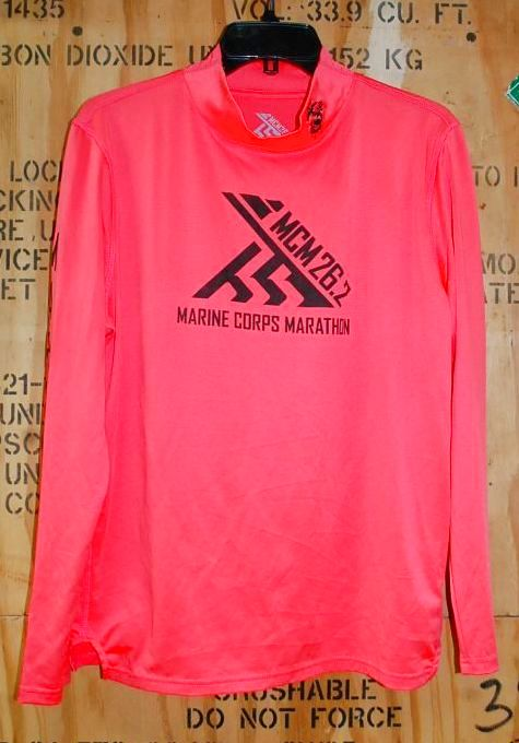 画像1: 米軍放出品 USMC イベント ロングTシャツ MEDIUM マラソン (1)