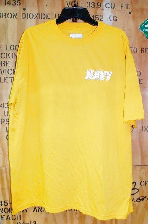 画像1: 米軍放出品 US NAVY トレーニングTシャツ X LARGE (1)