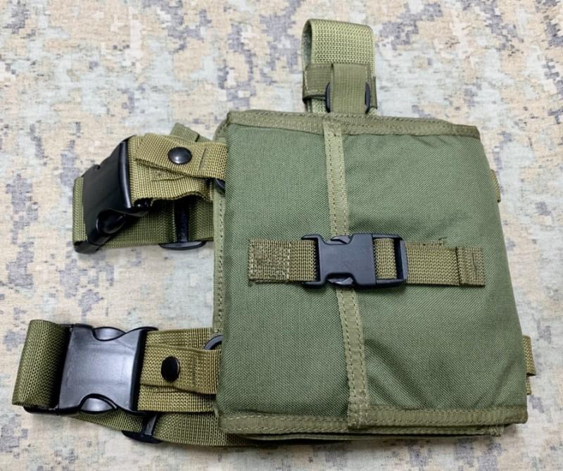 画像1: 米軍実物 S.O.TECH Shock Tube Dispenser Kit  レッグ マウント OD (1)