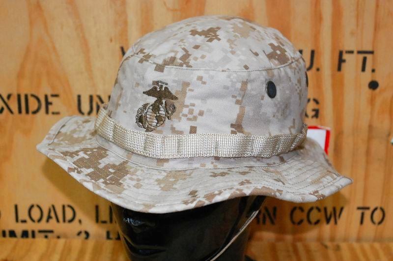 画像1: 米軍実物 デザートマーパットブーニーハット LARGE (1)
