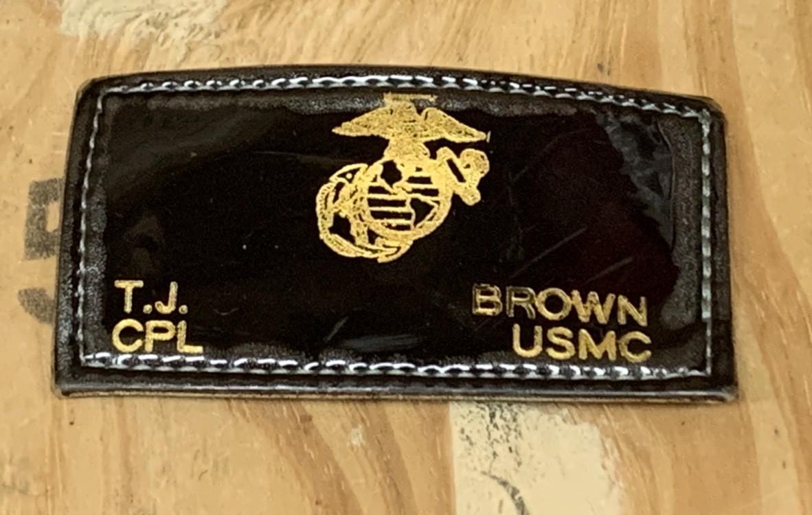 画像1: 米軍実物 U.S MARINE レザーワッペン (1)
