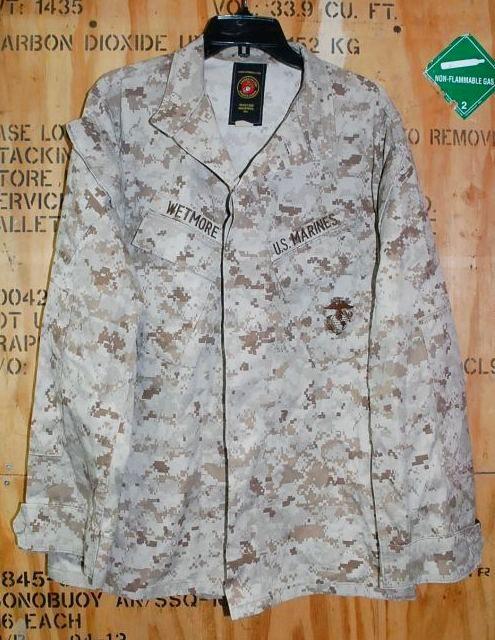 画像1: 米軍実物,USMC デザートマーパット ジャケット M-R (1)