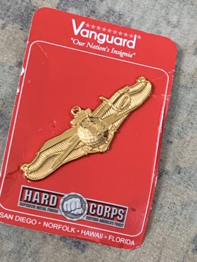 画像1: 米軍放出品 NAVY Information Dominance Warfare Officer Badge (1)
