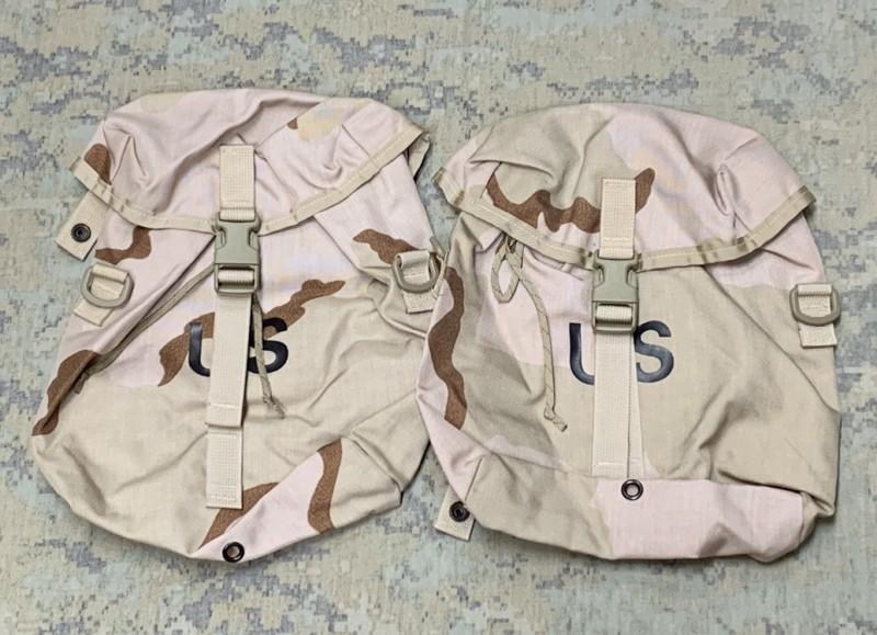 画像1: 米軍実物 デザート3C SUSTANMENT POUCH 2個セット (1)