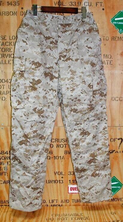 画像1: 米軍実物,USMC,デザートマーパットパンツ M-R (1)