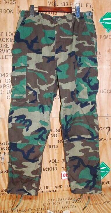 画像1: 米軍実物,ウッドカモ 迷彩パンツ L-LONG (1)