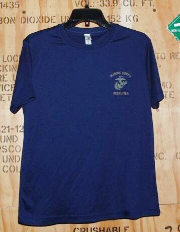 画像1: 米軍放出品,US MARINE CORPS RECRUTER Tシャツ S (1)