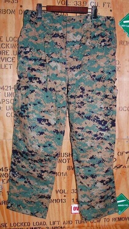 画像1: 海兵隊実物 USMC ウッドマーパットパンツ L-SHORT (1)
