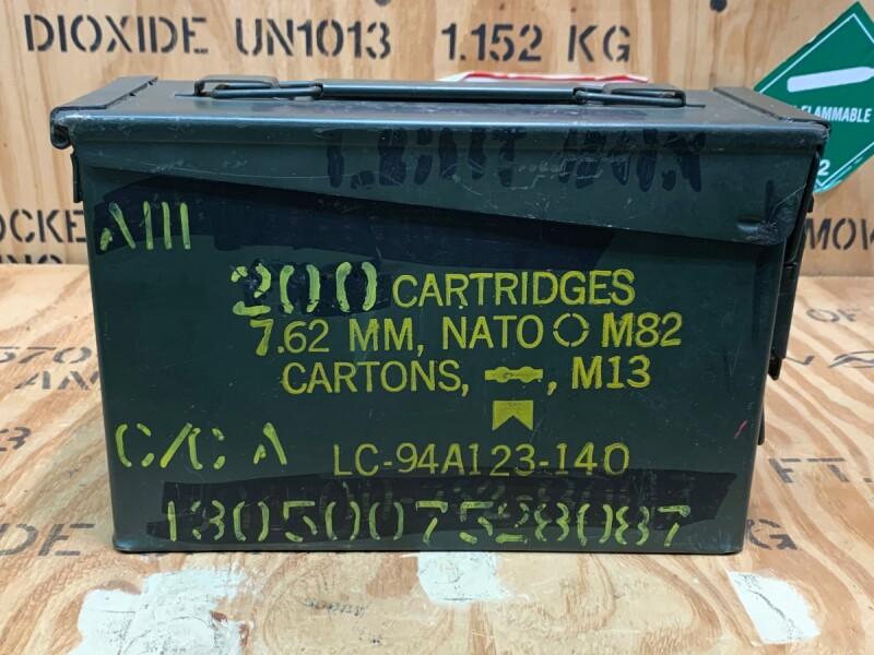 画像1: 米軍実物 AMMO BOX 弾薬ケース 7.62 MM M60-M73 (1)