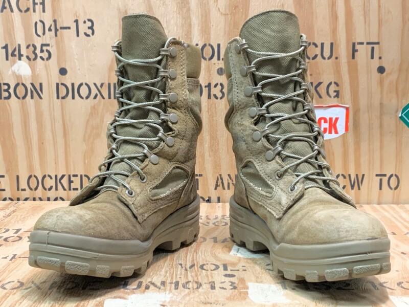 画像1: 米海兵隊実物 BATES デザートマーパット ゴアテックス ブーツ  7.5WF (1)
