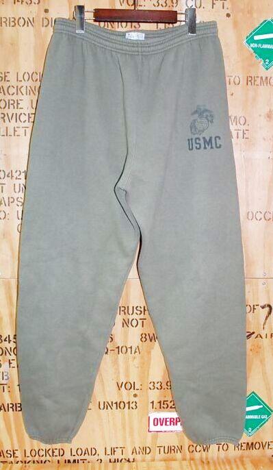 画像1: 米軍放出品.USMC スウェットパンツ XL (1)