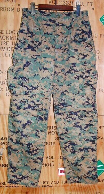 画像1: 海兵隊実物 USMC ウッドマーパットパンツ 32-S (1)