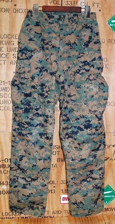 画像1: 海兵隊実物 USMC ウッドマーパットパンツ S-REGULAR (1)