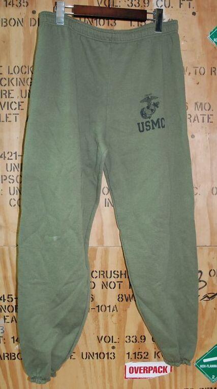 画像1: 米軍実物.USMC スウェットパンツ LARGE (1)
