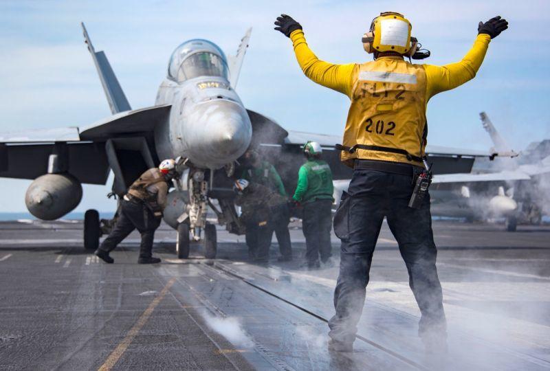画像1: 米海軍実物 TROUSERS,FLIGHT DECK 36 R (1)