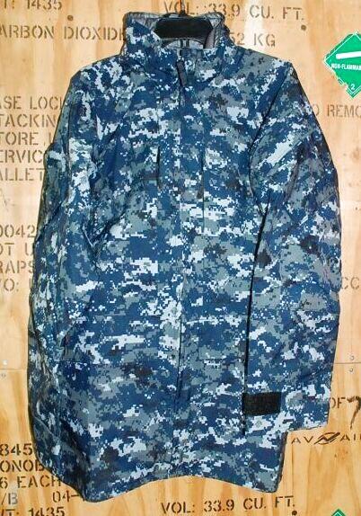 画像1: 海軍実物 US NAVY GORE-TEX パーカー M-L (1)