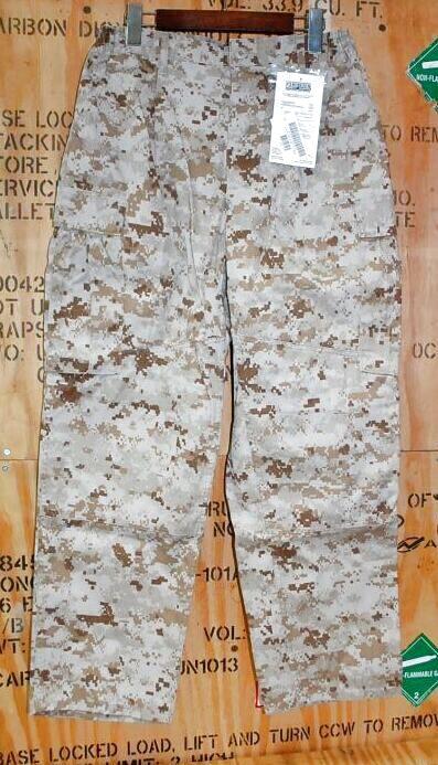 画像1: 米軍実物,USMC,デザートマーパットパンツ M-S (1)