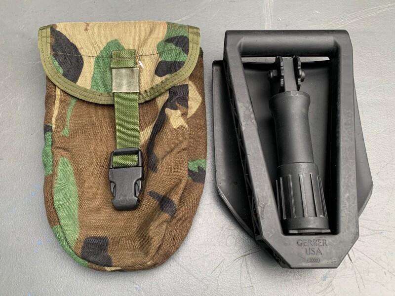 画像1: 米軍実物  GERBER  E TOOL  三つ折  スコップ/アライド スコップ ケース セット (1)