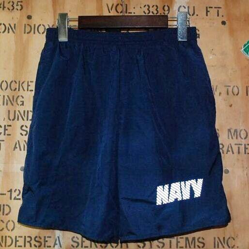 画像1: 米軍実物,US NAVY トレーニングパンツ SMALL (1)