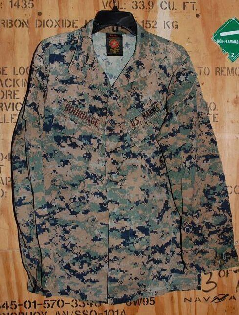 画像1: 米軍実物,USMC ウッドマーパットジャケット S-R (1)