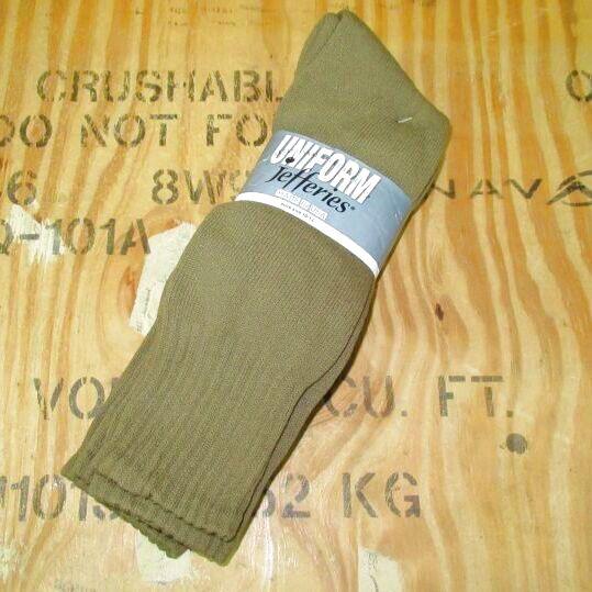 画像1: 米軍放出品 UNIFORM ブーツソックス 3P 10-13 コヨーテブラウン (1)