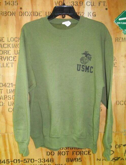 画像1: 米軍実物.USMC スウェットトレーナー MEDIUM (1)