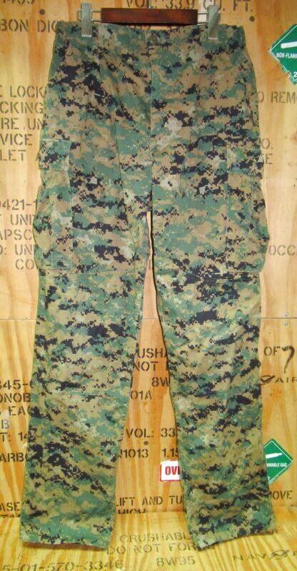 画像1: 海兵隊実物 USMC ウッドマーパットパンツ M-LONG (1)