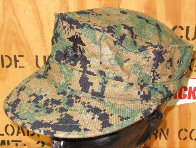 画像1: 米軍放出品,USMC ウッドランドマーパット CAP L (1)