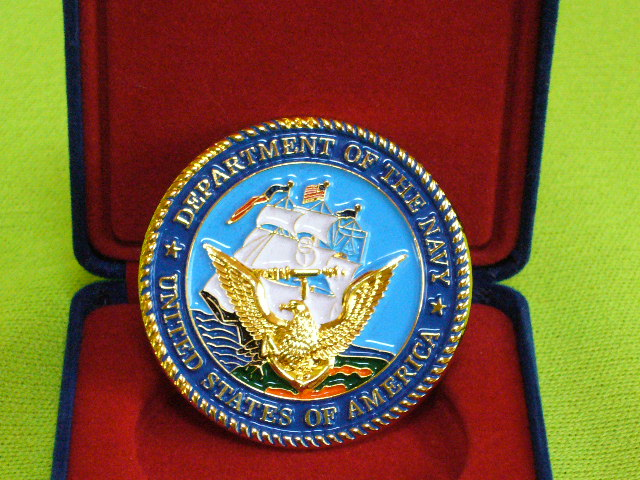 画像1: 米軍放出品.U,S,NAVY, 記念コイン 2007 (1)